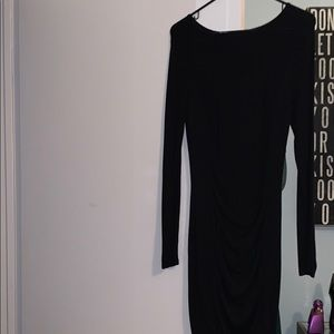 Express Body Con Long Sleeve Dress